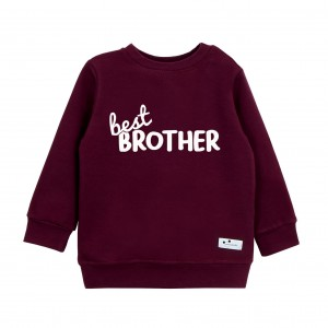 Bluza Best Brother bordowa
