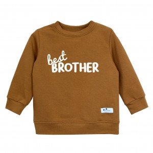 Bluza Best Brother karmelowa