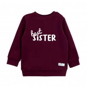 Bluza Best Sister bordowa